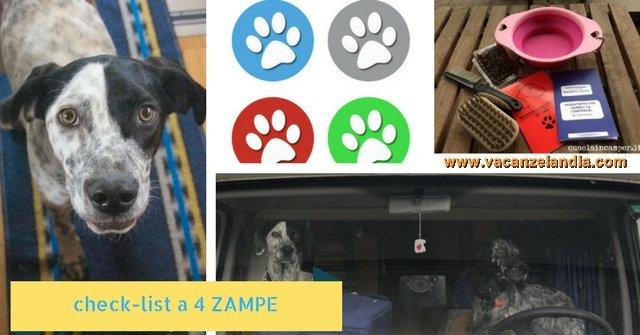 check list 4 zampe