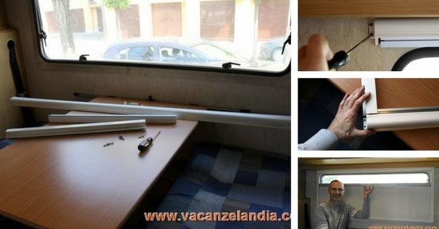 Sostituzione oscurante zanzariera finestra camper - Zanzariera porta finestra fai da te ...