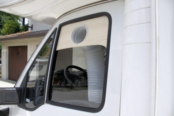 Fai da te condizionatore portatile in camper installazione - Condizionatore portatile tubo finestra ...