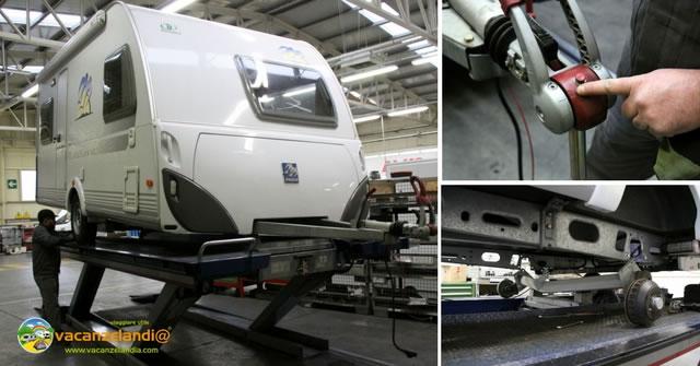 manutenzione caravan meccanica telaio sospensioni stabilizzatore alko
