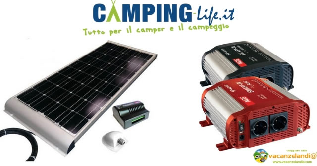 Camping life inverter moduli fotovoltaici camper