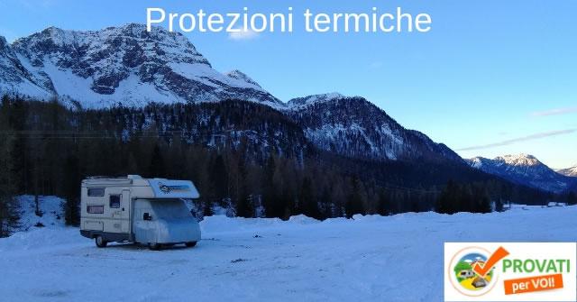larcos test protezioni termiche camper