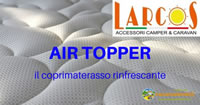 air topper larcos coprimaterasso camper caravan 200s