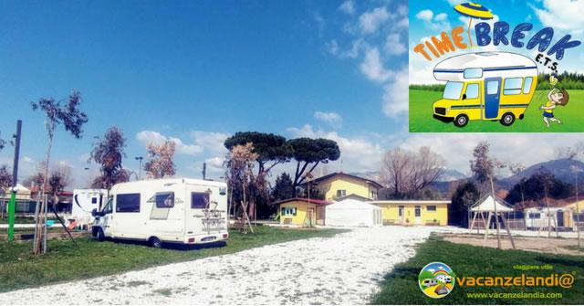 area attrezzata camper caravan time break marina di massa