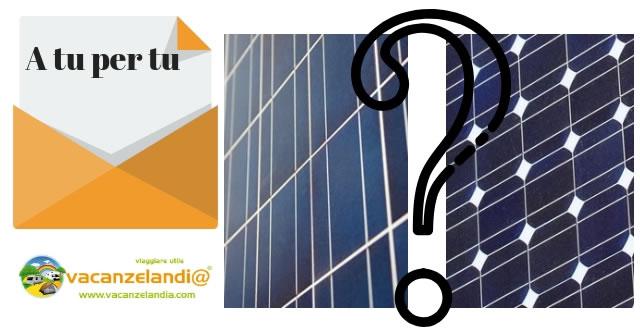 scelta modulo fotovoltaico camper