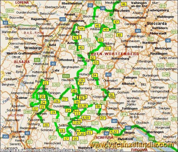 immagine di mappa stradale mappa stradale Le Alpi, Nord Italia, Svizzera,  Austria,