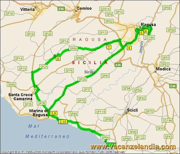 Itinerari diari di viaggio sicilia parte sud orientale 12o tappa mappa sicilia sud orientale 2005 9 thecheapjerseys Image collections