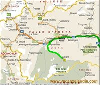 mappa val d aosta cogne