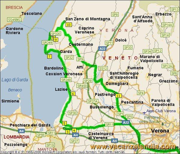 Distanza Lazise San Pietro In Cariano